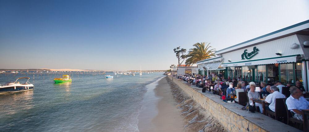 Un des plus anciens restaurants du Cap Ferret : L'escale, situé au bout de la jetée bélisaire