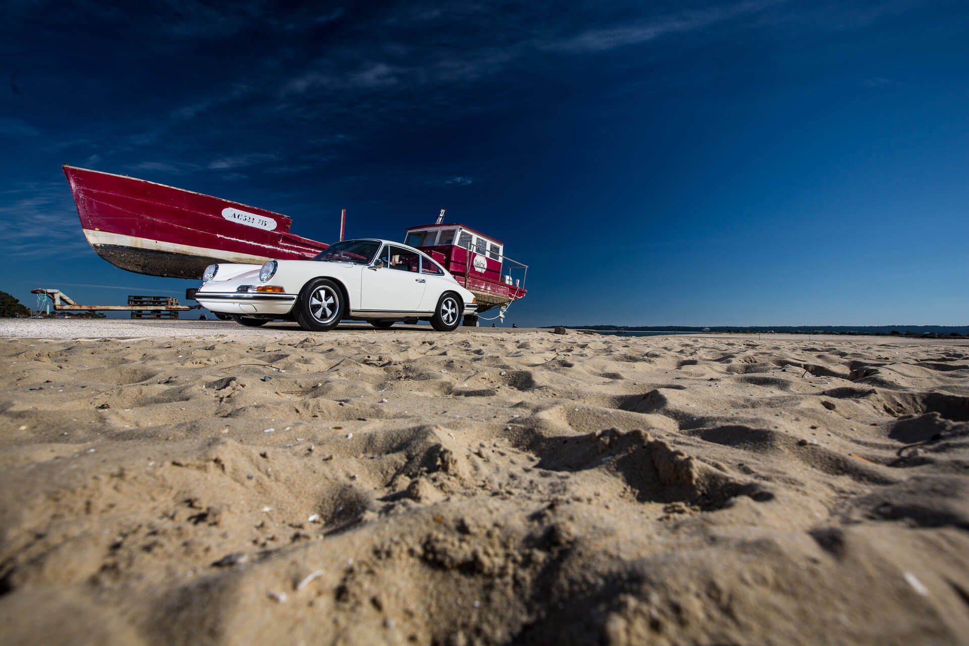 Porsche Heitz 911E blanche