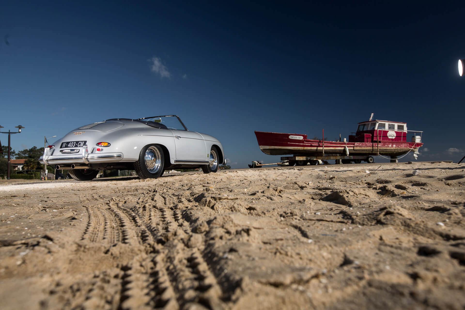 Porsche Heitz roadster gris