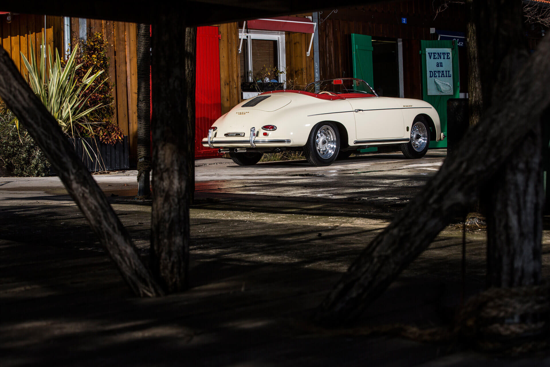 Porsche Heitz speedster blanc