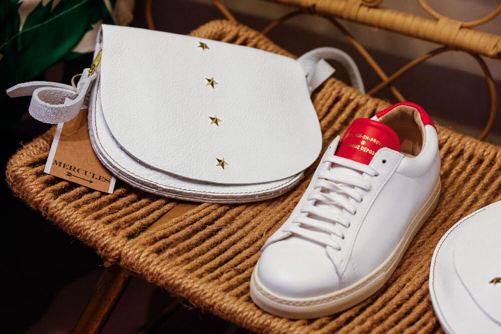 Boutique nous les libellules baskets blanches sac blanc