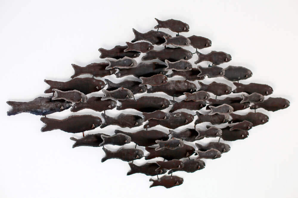 Creation Pezon metal banc poissons