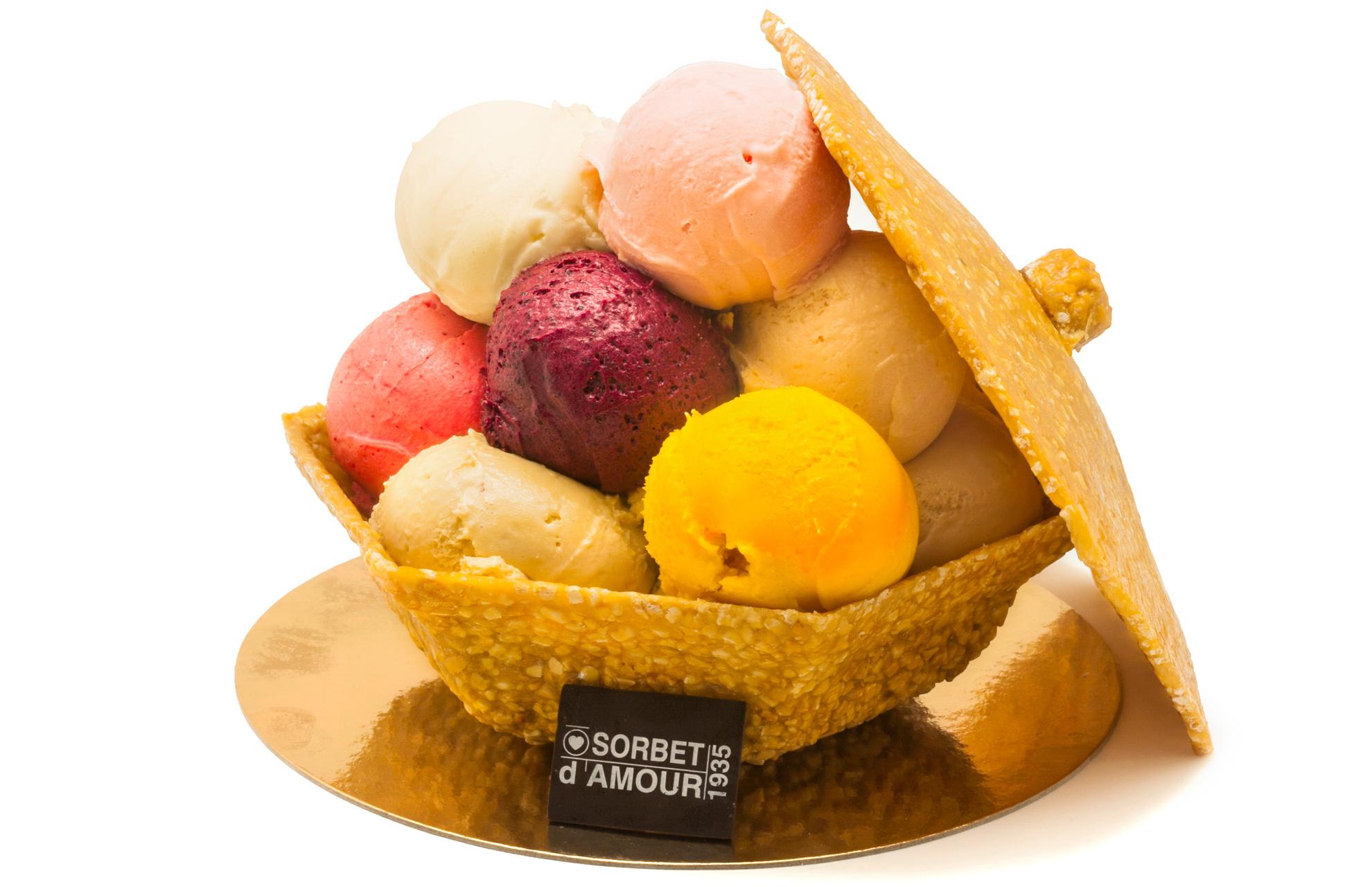 Sorbet amour glaces arcachonnaise