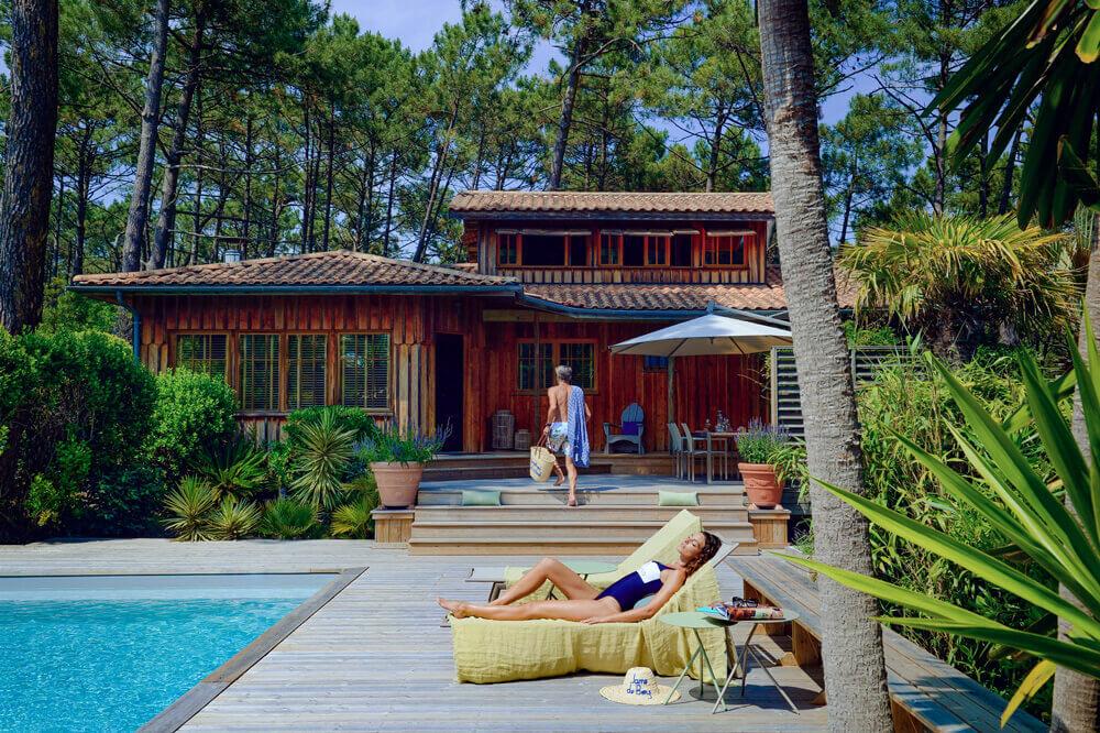 Jane villas terrasse piscine Cap Ferret
