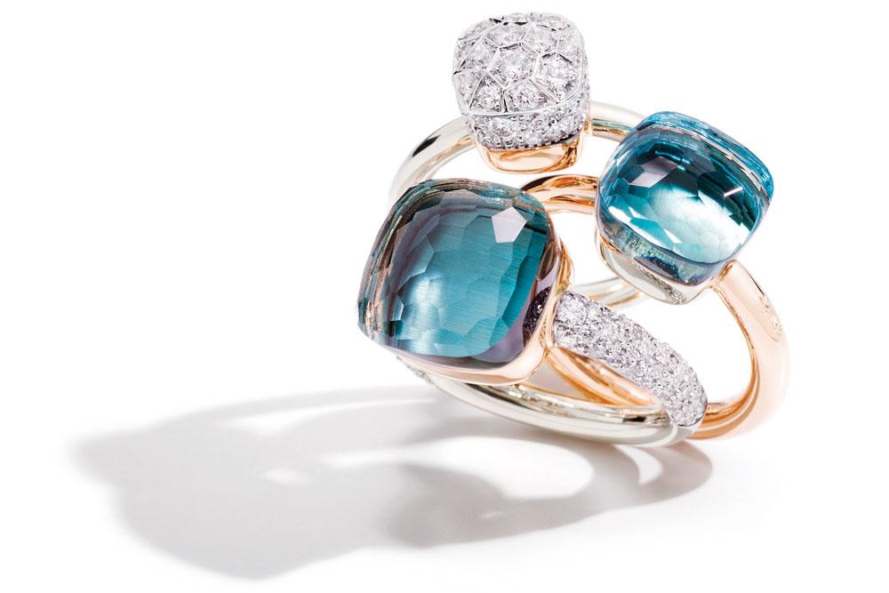 bague diamants topaze bleue pomellato édouard genton bassin arcachon cap ferret