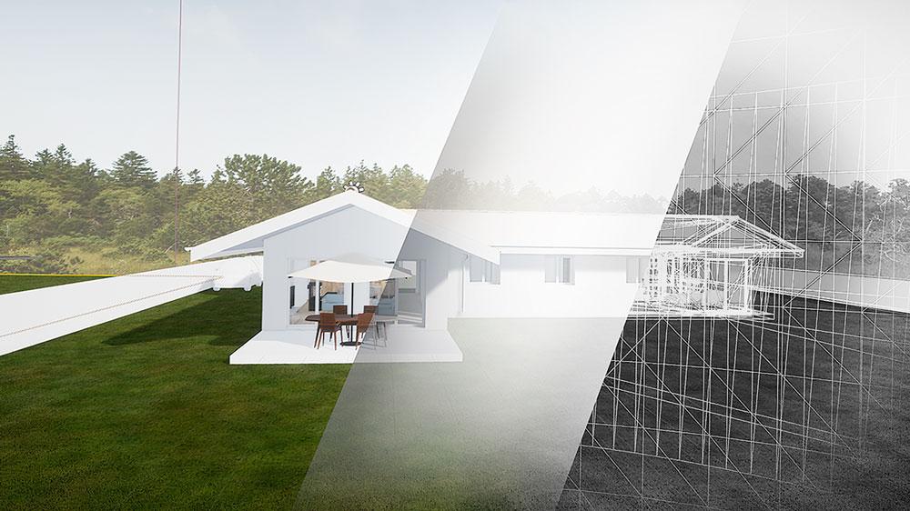 matagon maison plan decoupe réalité virtuelle visite immersive modelisation villas construction bassin arcachon