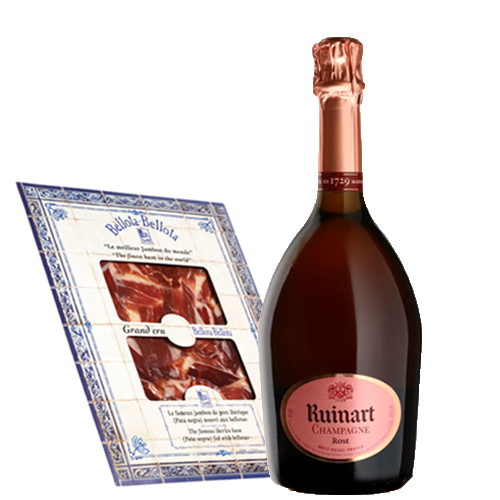 Ruinart Brut Rosé x Jambon Bellota-Bellota L'accord parfait
